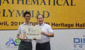 1st Runner Up for individual category- Student Tan Chin Peng from SMJK Chung Ling.