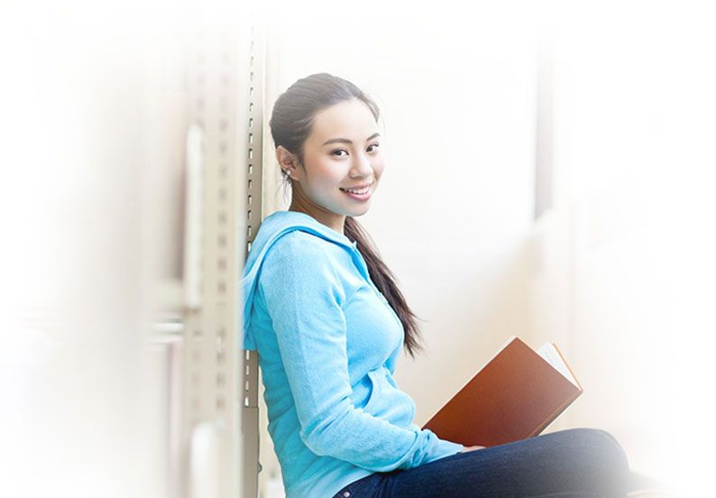 Asian College Student at Private College in Penang Malaysia
